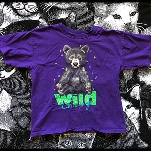 Y2K Grizzly Bear Wild This Crop Top